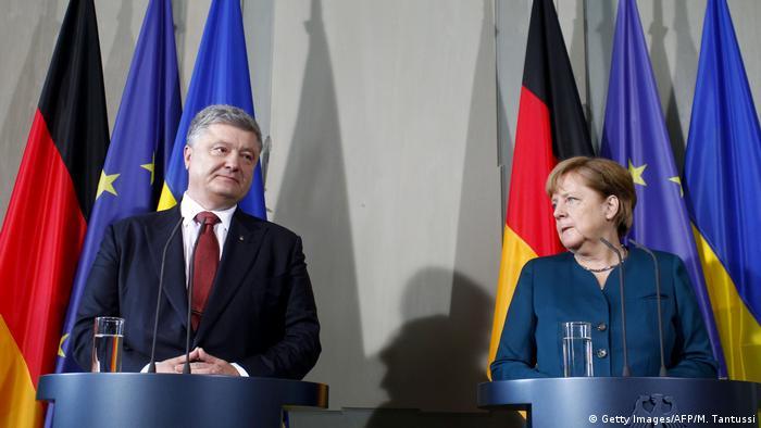 Петро Порошенко та Анґела Меркель