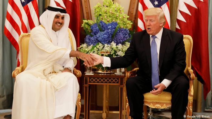 الرئيس دونالد ترامب والشيخ تميم بن حمد