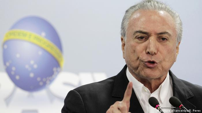 Krise in Brasilien Michel Temer (picture alliance/dpa/E. Peres)