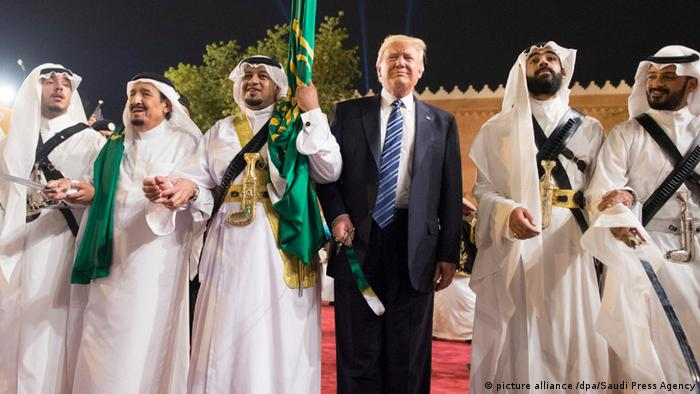 US-Präsident Trump in Saudi-Arabien (picture alliance /dpa/Saudi Press Agency)