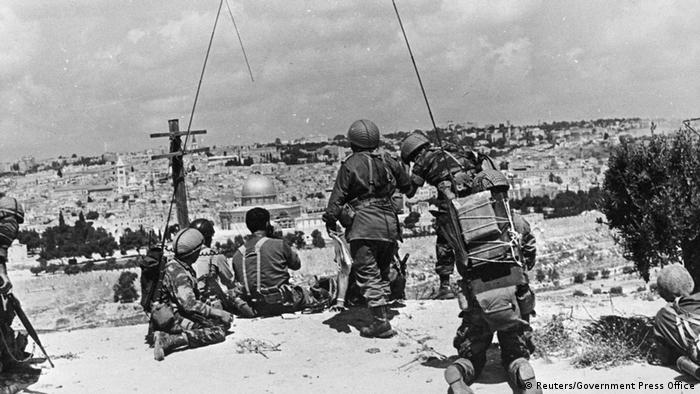 Jerusalem 1967 Blick vom Ölberg (Reuters/Government Press Office)
