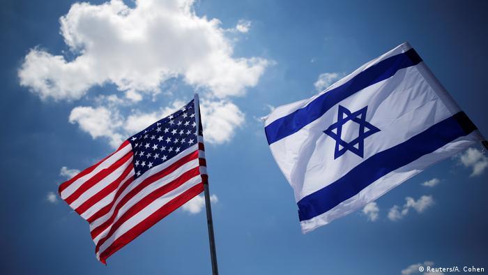Auslandreise US-Präsident Trump in Israel - Flaggen (Reuters/A. Cohen)