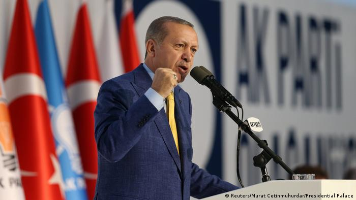 Türkei - AKP-Parteitag - Präsident Recep Tayyip Erdoğan (Reuters/Murat Cetinmuhurdar/Presidential Palace)