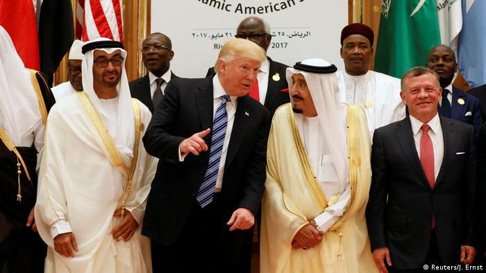Saudi Arabien Gruppenfoto Präsident Trump und Führer der arabischen Staaten