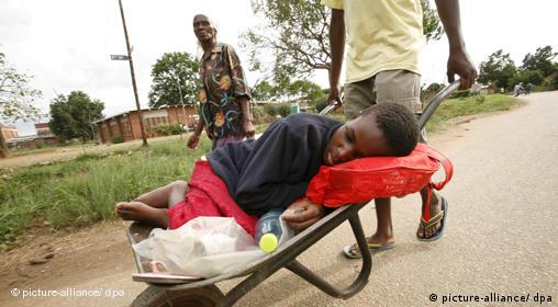 Cholera-Patient in Simbabwe