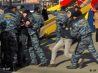 Сцена разгона демонстрации во Владивостоке 21 декабря