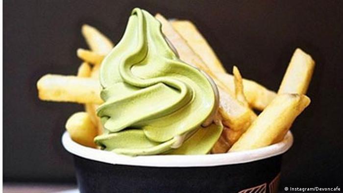 Foodtrends - Eiscreme mit Fritten (Instagram/Devoncafe)