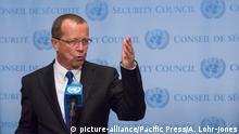 UN Hauptquartier: Martin Kolbler bei PK