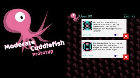 Spiel Cuddlefish der Kampagne #speakup! der DW Akademie