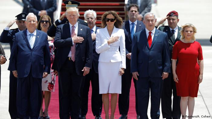 Israel Ankunft Donald Trump (Reuters/A. Cohen)