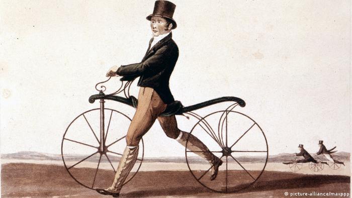 200 Jahre Fahrrad Draisine (picture-alliance/maxppp)