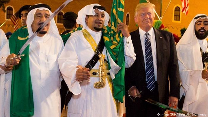 USA Saudi Arabien Donald Trump mit König Salman bin Abdulazi (Imago/ZUMA Press/S. Craighead)