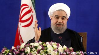 Iran Präsident Hassan Rohani (Getty Images/AFP/A. Kenare)