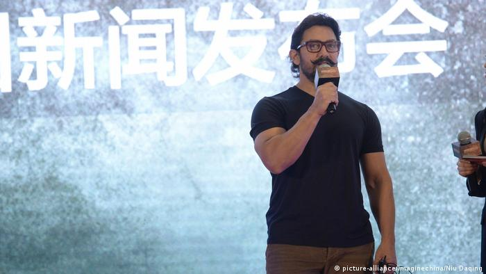 China indischer Schauspieler Aamir Khan in Peking - Film Dangal (picture-alliance/Imaginechina/Niu Daqing)