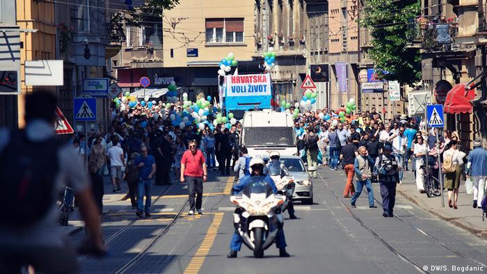 Kroatien Zagreb - Hod za život - Marsch für das Leben