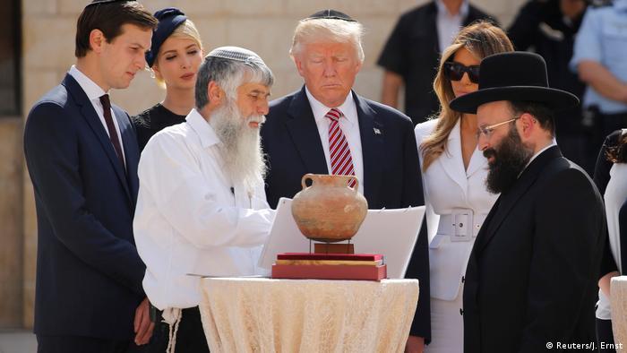 US President Donald Trump visits Western Wall in Jerusalem (Reuters/J. Ernst)