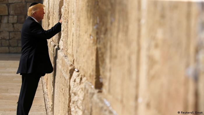 Israel US-Präsident Donald Trump Besuch der Klagemauer in Jerusalem (Reuters/J. Ernst)