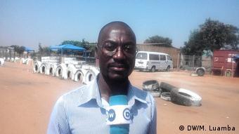 Geraldo Wanga, Präsident einer Gewerkschaft der Taxi-Fahrer in Luanda, Angola (DW/M. Luamba)