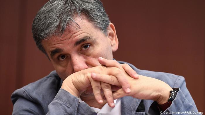 Belgien Griechischer Finanzminister Euclid Tsakalotos in Brüssel (Getty Images/AFP/E. Dunand)