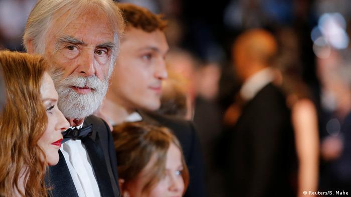 Michael Haneke and Isabelle Huppert in Cannes (Reuters/S. Mahe)