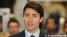 May 12, 2017 - Woodbridge, ONTARIO, Canada - Canadian Prime Minister Justin Trudeau delivers remarks on the economic opportunities for working class Canadians at a press conference held on May 12, 2017 in Woodbridge, Ontario, Canada. Woodbridge Canada PUBLICATIONxINxGERxSUIxAUTxONLY - ZUMAn230 20170512_zaa_n230_831 Copyright: xCreativexTouchxImagingxLtdx