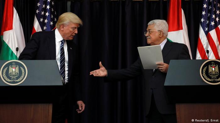 Palästina PK Trump und Abbas