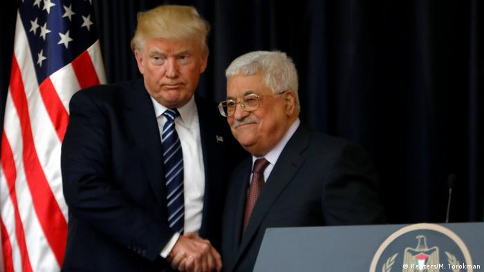 USA Donald Trump PK mit Mahmoud Abbas in Bethlehem