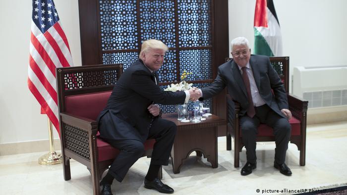 Israel Staatsbesuch Donald Trump (picture-alliance/AP Photo/F. Arouri)