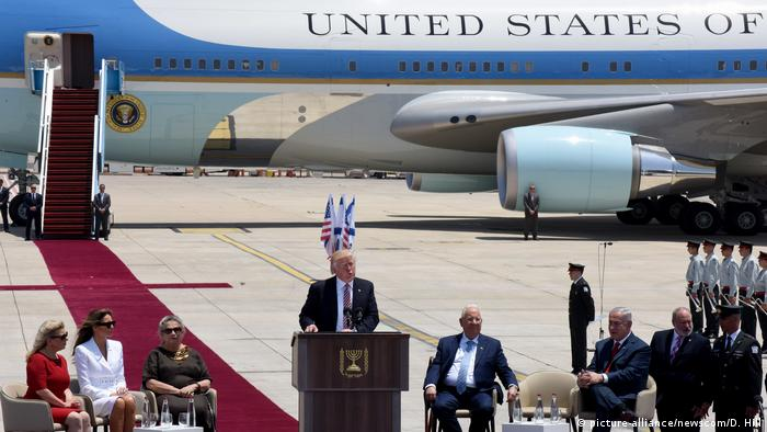 Israel Staatsbesuch Donald Trump (picture-alliance/newscom/D. Hill)