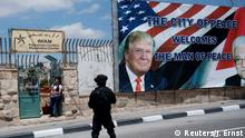USA Trump Besuch in Bethlehem (Reuters/J. Ernst)