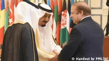 Saudi Arabien Nawaz Sharif in Riad (Handout by PML(N))