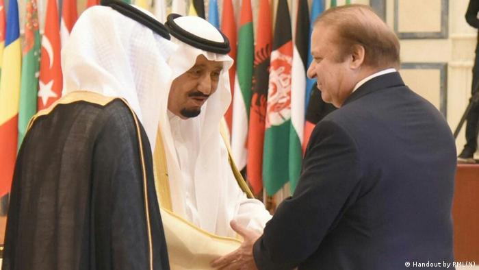 Saudi Arabien Nawaz Sharif in Riad (Handout by PML(N))