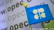 Das Logo der OPEC (Getty Images/AFP/A. Klein)