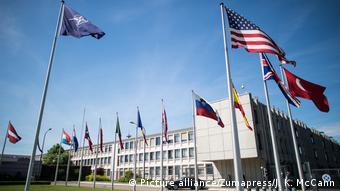 Belgien Gebäude des Hauptquartiers der NATO