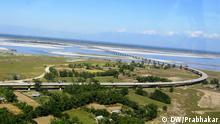 Bilder von neuer Brücke über Brahmaputra fluss in Assam, Indien. Foto: Kolkata Korrespondent Prabhakar.