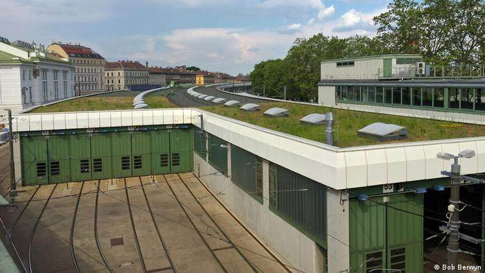 The green roof of a Vienna metro statio (Bob Berwyn)