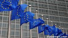 Belgien EU Fahnen auf Halbmast