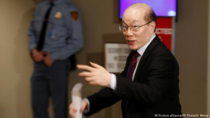 Chinesischer Botschafter bei den Vereinten Nationen Liu Jieyi (Picture alliance/AP Photo/S. Wenig)