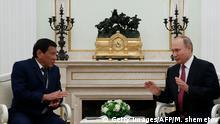 Rodrigo Duterte (l.) beim russischen Präsidenten Wladimir Putin im Kreml