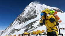 Blick auf Camp IV am Mount Everest