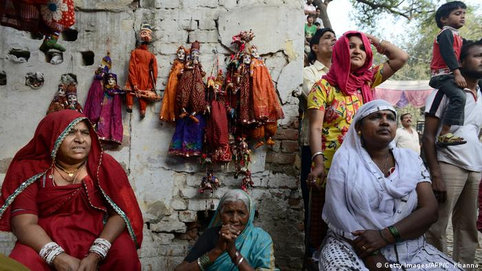 Indien Kathputli Slum in Neu-Delhi (Getty Images/AFP/C. Khanna)