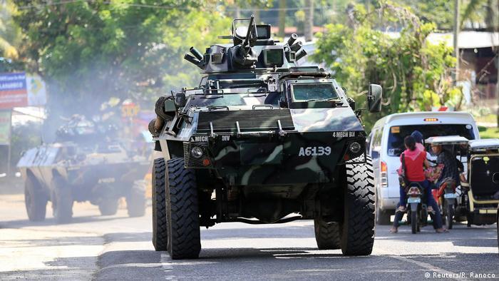Philippinen Soldaten auf der Straße nach Marawi