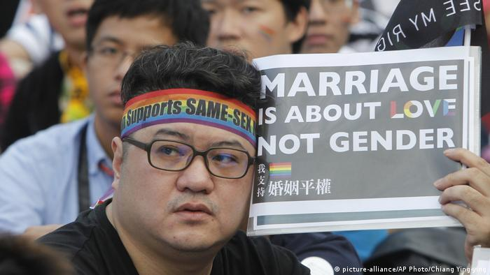 Demonstration for marriage equality in Taiwain