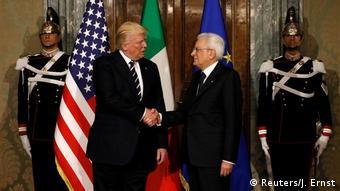 Συνάντηση των Προέδρων Ντ.Τραμπ και Σέρτζιο Ματταρέλλα
