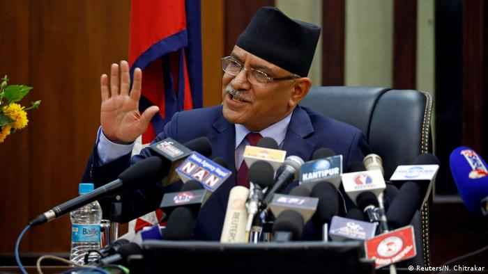 Pushpa Kamal Dahal, Prachanda, resigns (Reuters/N. Chitrakar)