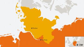 Karte Wacken Deutschland (DW)