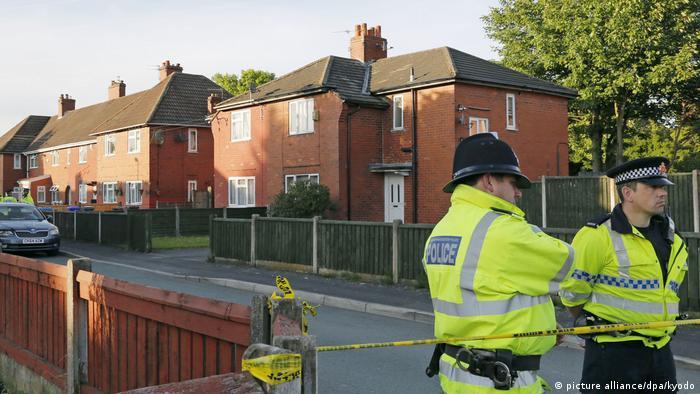 UK Straße des mutmaßlichen Attentäters von Manchester Salman Abedi (picture alliance/dpa/kyodo)