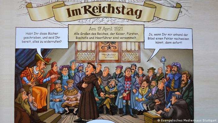 ausgewählt  vier comics zu luther und zur reformation