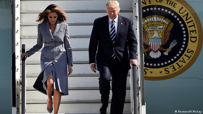 Donald und Melania Trump Ankunft Brüssel