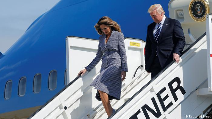 Donald und Melania Trump Ankunft Brüssel (Reuters/J.Ernst)